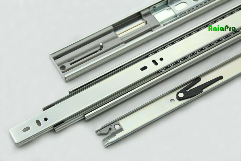 Soft close drawer slide part detail