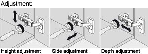 how to install Cabinet hinge